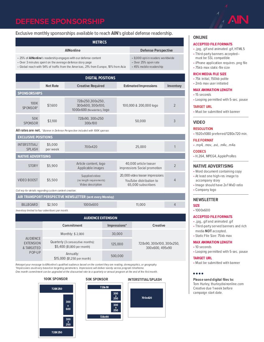 Defense Digital Sponsorship