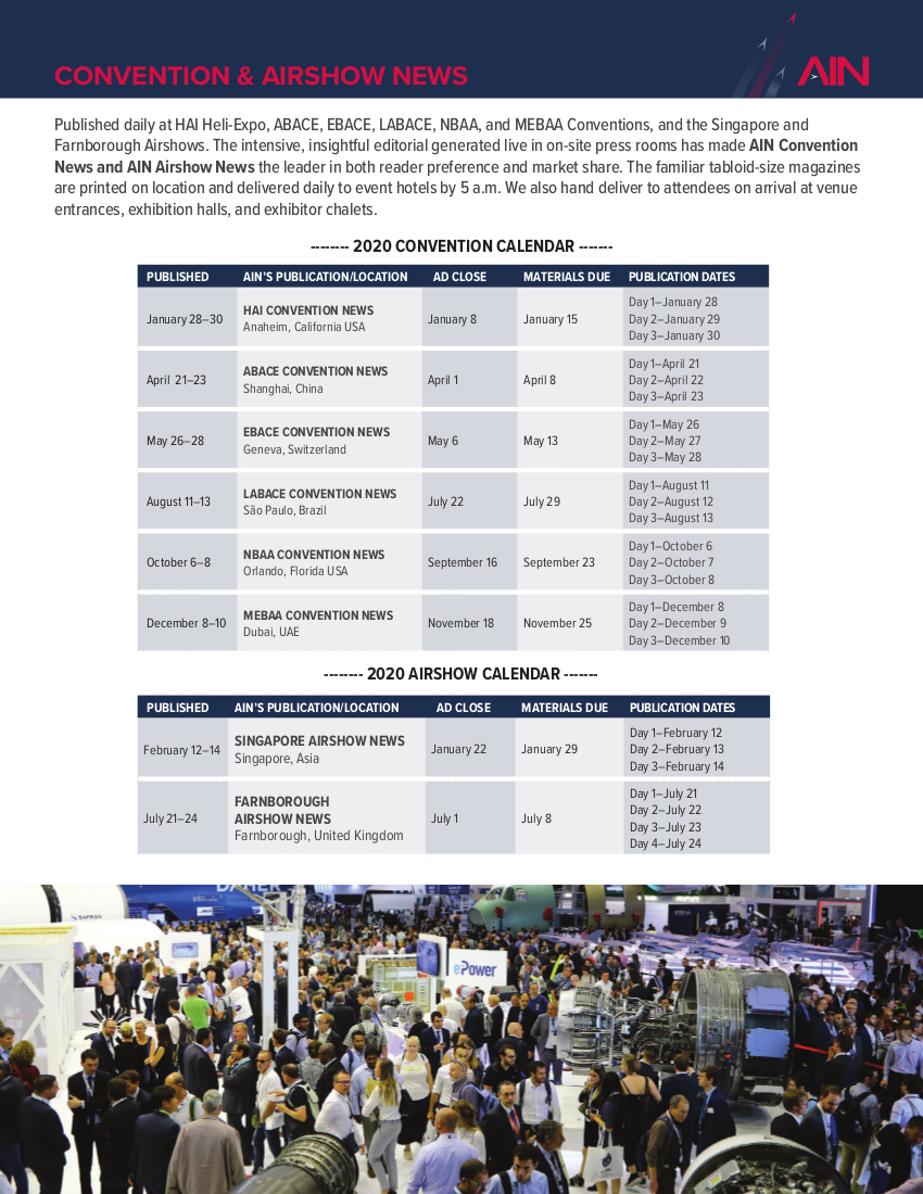 Convention & Airshow News Media Kit